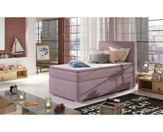 Čalúnená jednolôžková posteľ s úložným priestorom Rodrigo 90 L - fialová