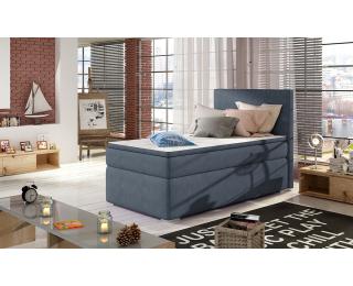 Čalúnená jednolôžková posteľ s úložným priestorom Rodrigo 90 L - modrá