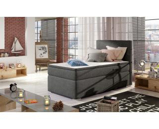Čalúnená jednolôžková posteľ s úložným priestorom Rodrigo 90 L - sivá