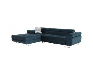 Rohová sedačka s rozkladom a úložným priestorom Amareta L - modrá