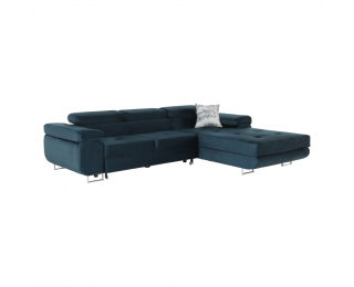 Rohová sedačka s rozkladom a úložným priestorom Amareta P - modrá