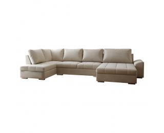 Rohová sedačka U s rozkladom Kaskada U L - béžová
