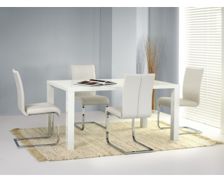 Jedálenský stôl Ronald 120 - biely lesk