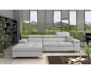 Rohová sedačka s rozkladom a úložným priestorom Rosino L - svetlosivá (Sawana 21)