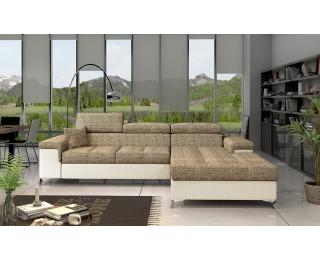 Rohová sedačka s rozkladom a úložným priestorom Rosino P - cappuccino / béžová