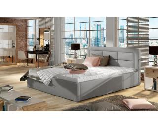 Čalúnená manželská posteľ s roštom Rovigo 140 - svetlosivá (Paros 05)