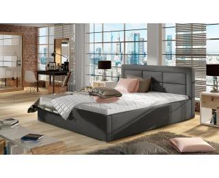 Čalúnená manželská posteľ s roštom Rovigo UP 200 - tmavosivá