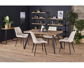 Rozkladací jedálenský stôl Berlin - dub medový / čierna