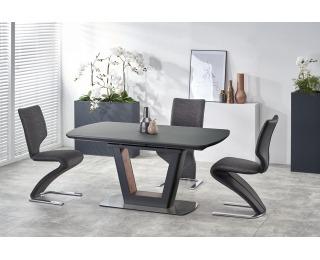 Rozkladací jedálenský stôl Bilotti - antracit / orech