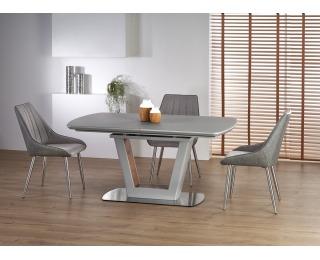 Rozkladací jedálenský stôl Bilotti - svetlosivá / orech