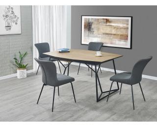 Rozkladací jedálenský stôl Colombo - dub zlatý / čierna