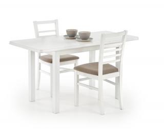 Rozkladací jedálenský stôl Dinner 120/158 - biela