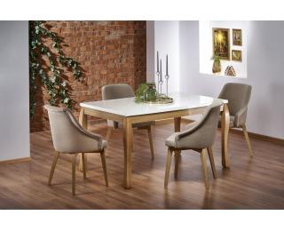 Rozkladací jedálenský stôl Donovan - dub prírodný / biela