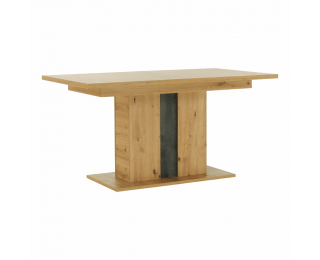 Rozkladací jedálenský stôl Eridan S - dub artisan / sivý betón