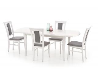 Rozkladací jedálenský stôl Fryderyk 160/200 - biela
