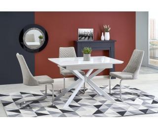 Rozkladací jedálenský stôl Harper - biela