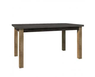 Rozkladací jedálenský stôl Montana STW - dub lefkas tmavý / smooth sivý