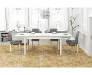 Rozkladací jedálenský stôl Rois - biela