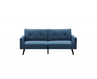 Rozkladacia pohovka Corner - modrá / čierna