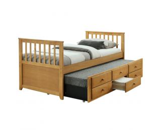 Rozkladacia posteľ s prísteľkou Austin New 90 - dub