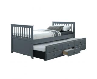 Rozkladacia posteľ s prísteľkou Austin New 90 - sivá