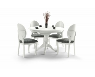 Rustikálny rozkladací jedálenský stôl William - biela
