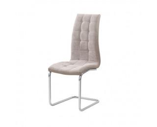 Jedálenská stolička Saloma New - béžová / chróm