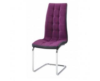 Jedálenská stolička Saloma New - fialová / čierna / chróm