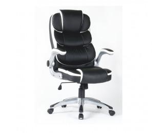 Kancelárske kreslo s podrúčkami Saraka - čierna / biela