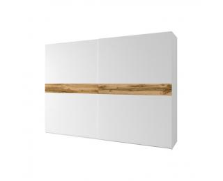 Šatníková skriňa s posuvnými dverami Nagama 2D - biela / dub wotan