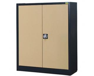 Kovová kancelárska skriňa s vystuženými dverami SB 1000 3P - antracit / béžová