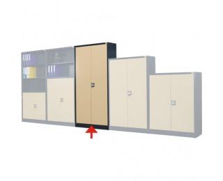 Kovová kancelárska skriňa s vystuženými dverami SB 1000 5P - antracit / béžová