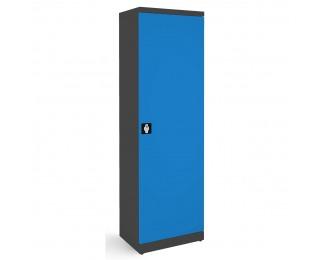 Kovová kancelárska skriňa s nastaviteľnými policami SB600 - grafit / modrá