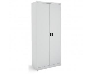 Kovová kancelárska skriňa s dvojkrídlovými dverami SB 800 - svetlosivá