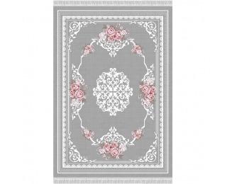 Koberec Sedef Typ 2 80x150 cm - sivá / vzor kvety