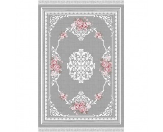 Koberec Sedef Typ 2 160x230 cm - sivá / vzor kvety