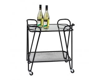 Servírovací stolík na kolieskach Megon - čierna