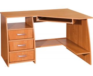 Rohový PC stôl Sevilla 3P - jelša