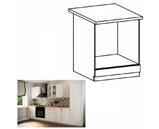 Dolná kuchynská skrinka na vstavané spotrebiče Sicilia D60ZK - biela / sosna Andersen