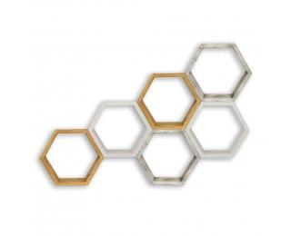 Poličky (6 ks) Apis - biely vosk / čierny vosk / medovo hnedá