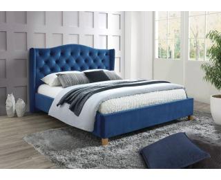 Čalúnená manželská posteľ s roštom Aspen Velvet 160 - granátová