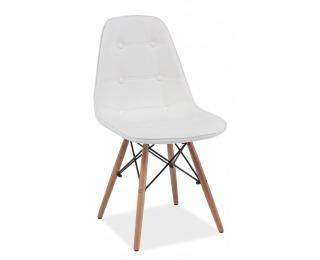 Jedálenská stolička Axel - biela