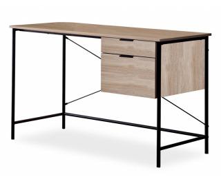 Písací stôl B-183 - dub / čierna