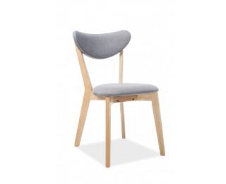 Jedálenská stolička Brando - sivá / dub