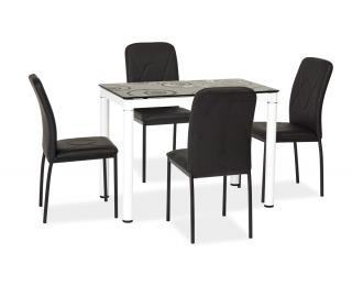 Jedálenský stôl Damar - biela / čierna
