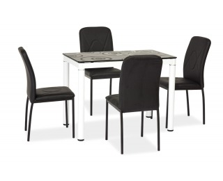 Jedálenský set Damar 1+4 - biela / čierna