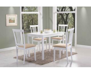 Jedálenský stôl Fiord - biela