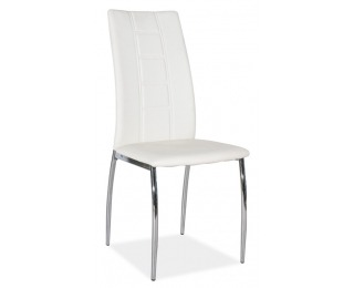 Jedálenská stolička H-880 - chróm / biela