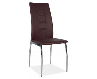 Jedálenská stolička H-880 - chróm / hnedá