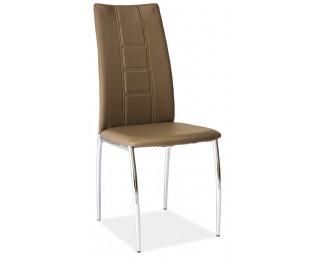 Jedálenská stolička H-880 - chróm / latte